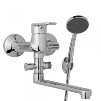 Nástěnná umyvadlová a sprchová baterie FINERY 100 mm s příslušenstvím, ramínko 200 mm