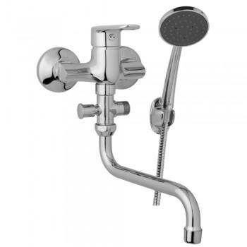 Nástěnná umyvadlová a sprchová baterie FINERY 100 mm s příslušenstvím, trubkové ramínko 300 mm