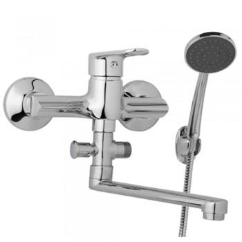Nástěnná umyvadlová a sprchová baterie FINERY 150 mm s příslušenstvím, ramínko 300 mm
