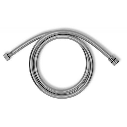 Hadice sprchová stříbrná PVC 1,5m- ANTI TWIST