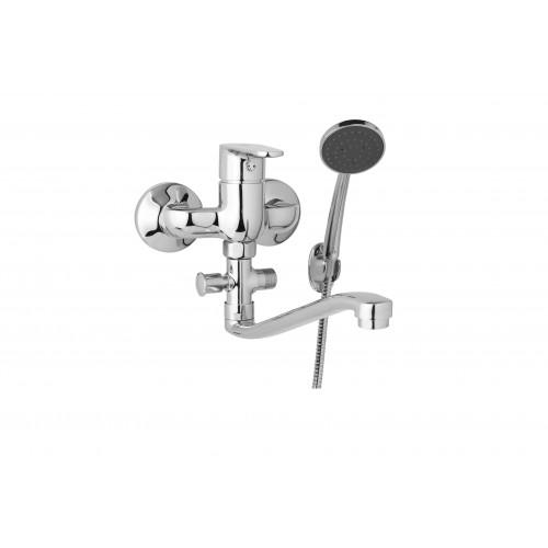Nástěnná umyvadlová a sprchová baterie TIRA 100 mm s příslušenstvím, S ramínko 300 mm